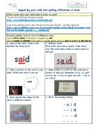 Supporting your child with spelling difficulties at home