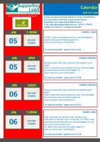 SWHP Newsletter 181 Calendar