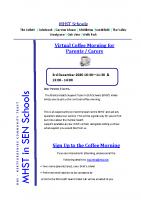 coffee morning flyer