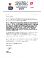School Meal Price Letter