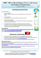 MHST Newsletter World sleep day