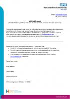 Newsletter sign up – letter for parents